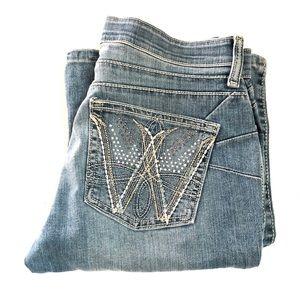 Wrangler WRQ25AW Women's Denim Jeans Size W3/4